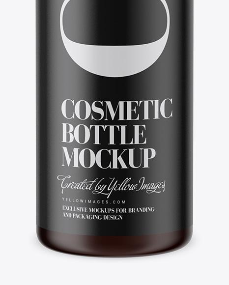 Amber Cosmetic Bottle w/ Pump Mockup