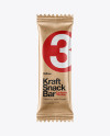 Kraft Snack Bar Mockup - Front View