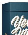 Carton Box Mockup - Half Side View