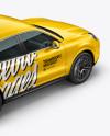 Luxury Crossover 5-doors Mockup - Halfside Back Top View