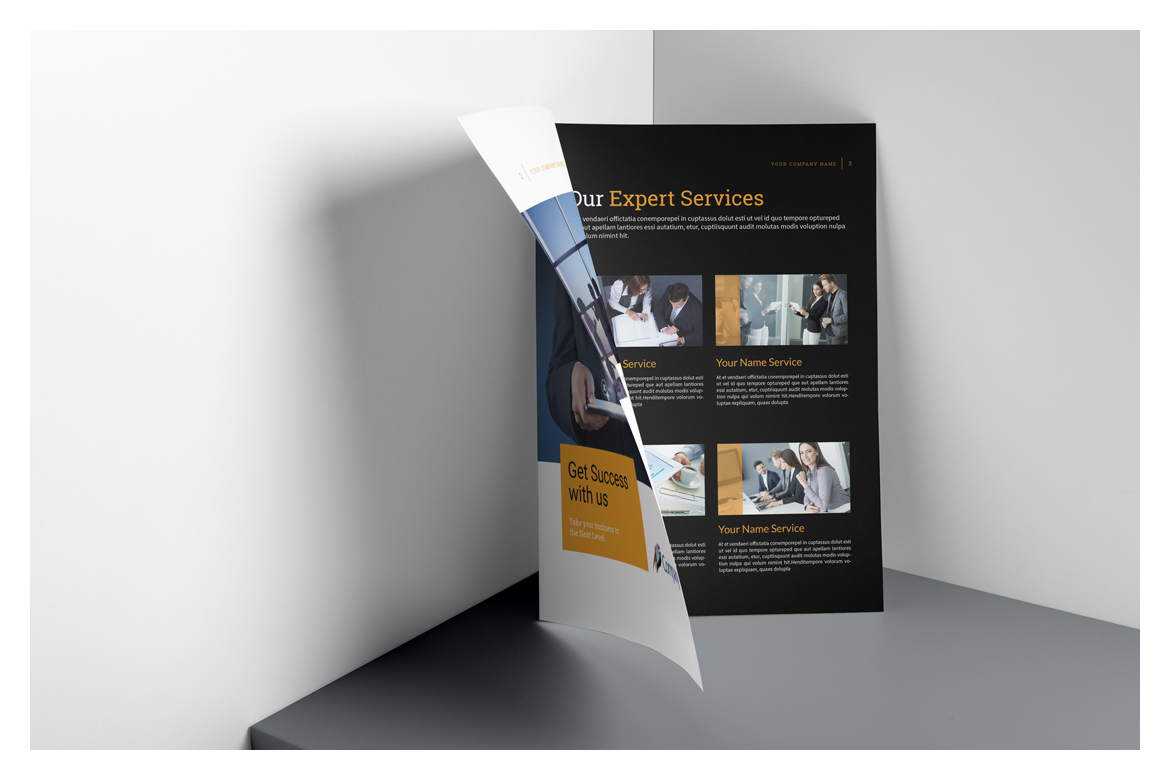 Business Brochure Template In Brochure Templates On Yellow Images