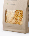 Kraft Bag with Ruote Pasta Mockup - Half Side View
