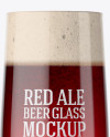 Embassy Glass with Red Ale Beer Mockup