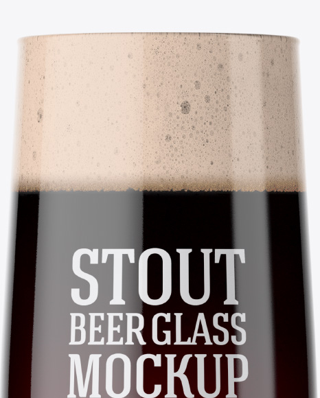 Embassy Glass with Stout Beer Mockup