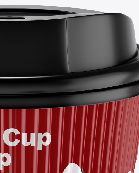 Matte Coffee Cup Mockup - Front View (High-Angle Shot)
