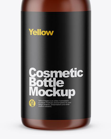Amber Сosmetic Bottle Mockup