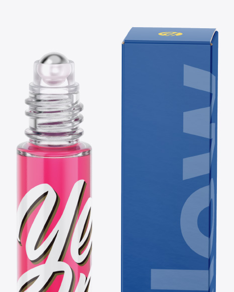 Cosmetic Bottle and Box Mockup