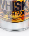 Whisky Tumbler Glass with Smoldering Cigar Mockup