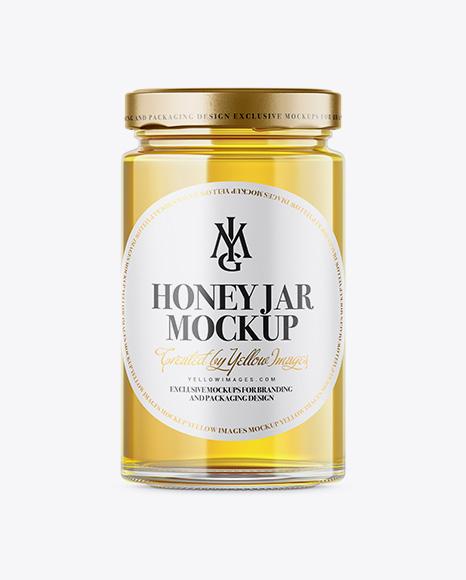 Pure Honey Jar Mockup