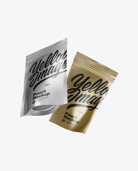 Download Two Metallic Pouches Psd Mockup Free Responsive Website Mockup Psd Design PSD Mockup Templates
