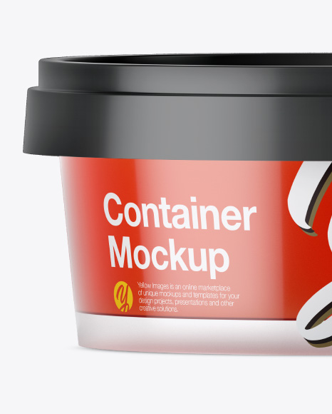 Container with Jam Mockup