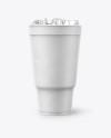 Styrofoam Cup Ice Mockup