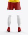 Women's Full Soccer Kit mockup (Back View)