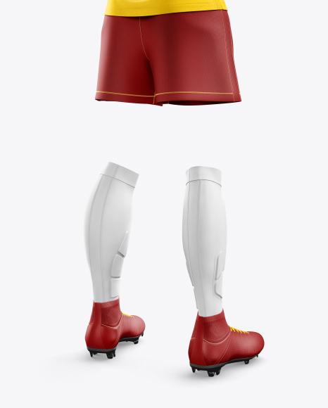 Women's Full Soccer Kit mockup (Hero Back Shot)