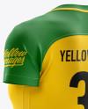 Women's Soccer Jersey mockup (Back Half Side View)
