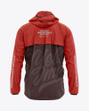 Men's Lightweight Hooded Windbreaker Jacket - Back View