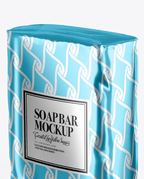 Metallic Soap Bar Package Mockup