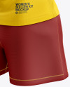 Women's Soccer Kit mockup (Back Half Side View)
