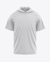 Men's Hooded T-shirt Mockup - Front View