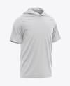Men's Hooded T-shirt Mockup - Front Half-Side View