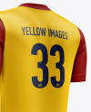 Men's Soccer V-Neck Kit mockup (Back Half Side View)