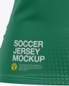 Women's Soccer V-Neck Jersey Mockup - Front View