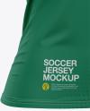 Women's Soccer V-Neck Jersey Mockup – Front Half-Side View
