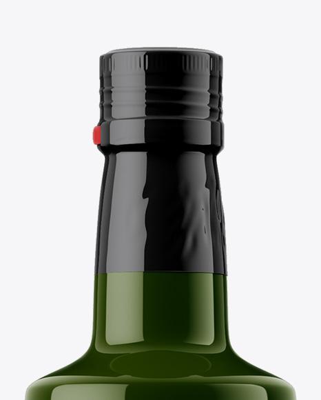 Glossy Olive Oil Bottle Mockup