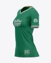 Women's Soccer V-Neck Jersey Mockup – Side View