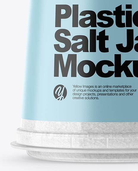Spice Jar w/ Salt Mockup