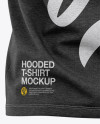 Men's Heather Hooded T-shirt Mockup - Back View
