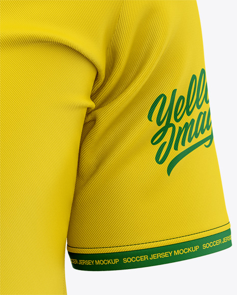 Men's Soccer Y-Neck Jersey Mockup - Front View