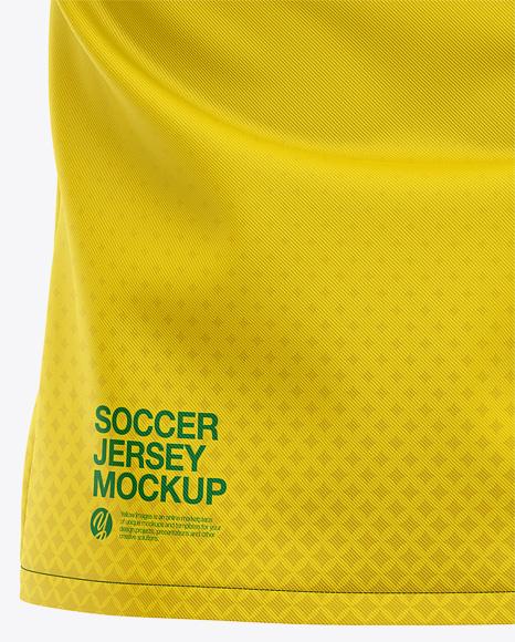 Men's Soccer Y-Neck Jersey Mockup - Back View