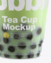 Bubble Tea Cup Mockup - Front View