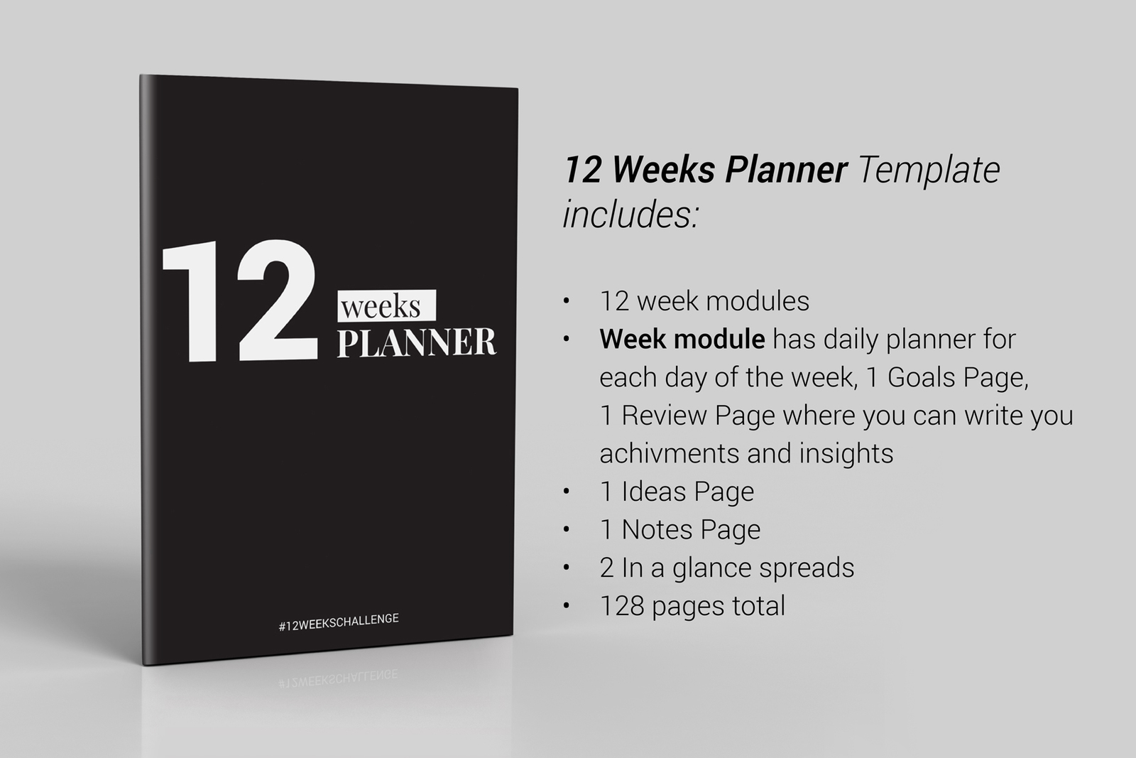 12 weeks planner indesign template in brochure templates on yellow