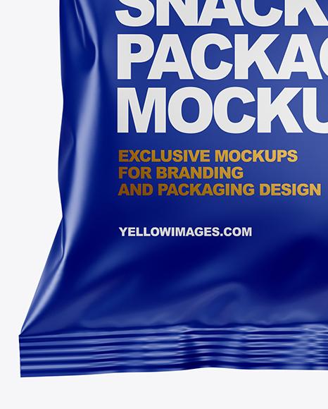 Matte Snack Package Mockup