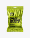 Metallic Snack Package Mockup