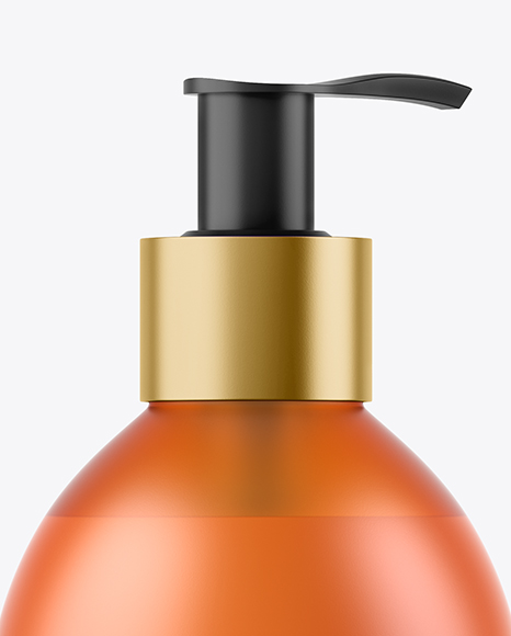 Orange Frosted Liquid Soap Bottle Mockup