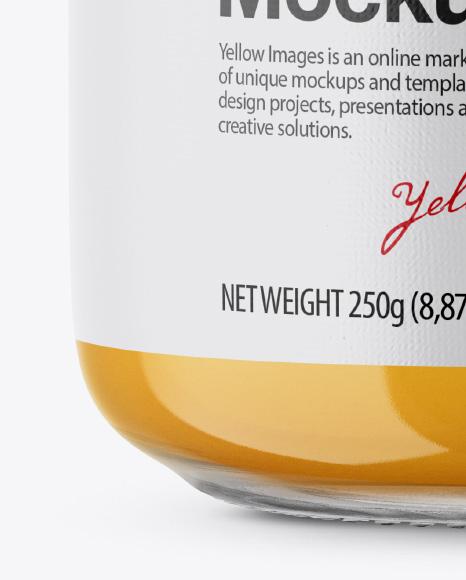 Glass Jar with Sugared Honey Mockup