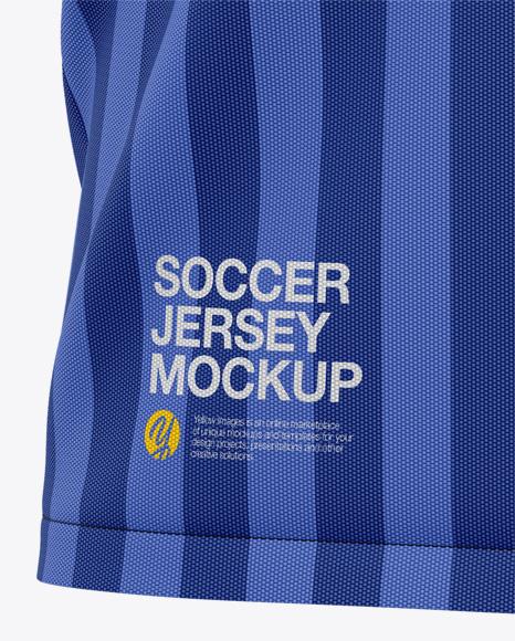 Men's Soccer V-Neck Jersey Mockup - Front View