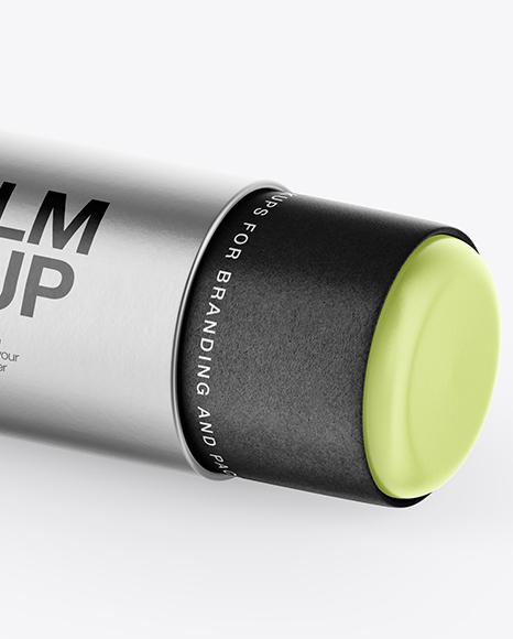 Metallic Lip Balm Mockup