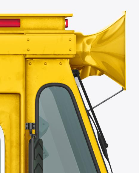 Hot Dog Truck Mockup - Side view