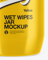 Glossy Wet Wipes Jar Mockup