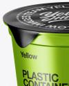 Metallic Plastic Cups Mockup
