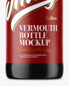 Amber Glass Vermouth Bottle Mockup