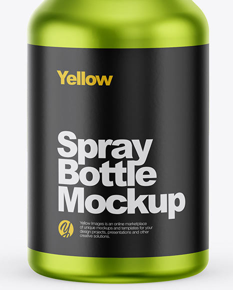 Metallic Spray Bottle Mockup