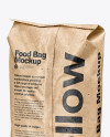 Kraft Food Bag Mockup