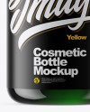 Green Cosmetic Bottle Mockup