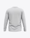 Men's Raglan Long Sleeve T-Shirt Mockup - Back View