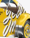 Retro Car Mockup - Half Side View
